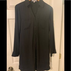 Black Portofino Shirt Dress